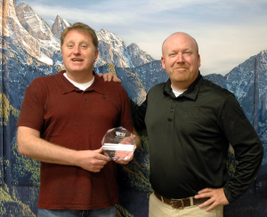 Guy Timothy and Jeff Holley Display CSI Presidential Award